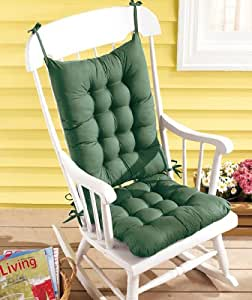 Rocking Chair Cushion Set Green Kitchen Dining