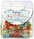 Autumn Leaves Foof-A-La Bag-O-Buttons 6-Ounce, Indian Summer