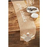 Mud Pie Thanksgiving Give Thanks Turkey Table Runner