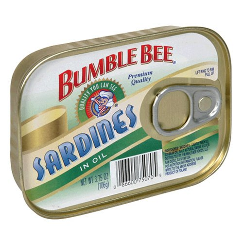 Buy Bumble Bee Sardines in Oil, 3.75-Ounce Cans (Pack of 24)