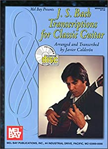 J S Bach Transcriptions For Classic Guitar With Cd from Mel Bay Publications Inc