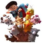 Homgaty 10 Pcs Animals Finger Puppets...