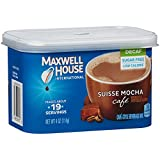 Maxwell House International Cafe Flavored Instant Coffee, Suisse Mocha, Decaf & Sugar Free, 4 Ounce Canister (Pack of 4) (Color: black, Tamaño: 4-Ounce Cans (Pack of 4))