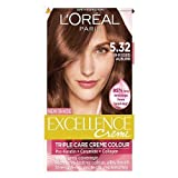 L'Oreal Paris Excellence Hair Colour Kit, Sun Kissed Auburn Number 5.32 - Pack of 3