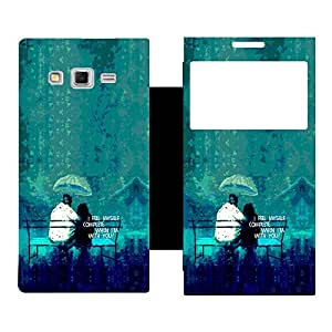 Phone Candy Designer Flip Cover with hi-res printed Vinyl sticker wrap-around for Samsung Galaxy Grand 2