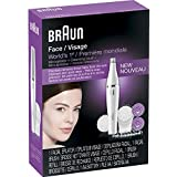 BRAUN Facial Epilator and Facial Cleansing Brush with Extra Brush Refill