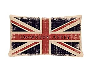 Amazon.com - Downton Abbey UNION JACK British Flag Decorative Pillow