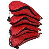 MODA Ladies Golf Head Cover Set - Anna (Red)