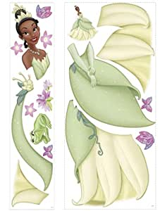 Roommates Rmk1424Gm Princess Tiana Giant Wall Decal With 3D Butterflies