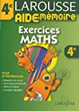 Aide-M�moire : Exercices de maths, 4�me