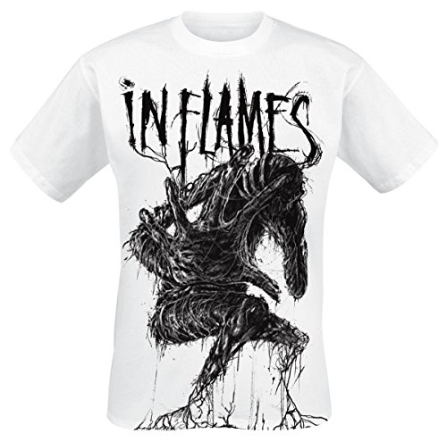 In Flames Big Creature T-Shirt bianco M