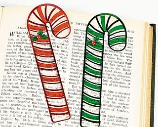 48 Candy Cane Ruler Bookmarks Party Bag Fillers for Children | Party Bag Favours