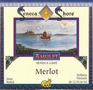 Nv Seneca Shore Wine Cellars Merlot, Seneca Lake, Dry Red Wine, 750 Ml