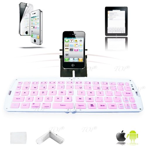 Top® Quality Galaxy S2 Keyboard, Bluetooth Keyboard For Samsung Galaxy Note N8000, Keyboard For Android Tv Box, Bluetooth Keyboard For Samsung Galaxy Tablet 10.1, Galaxy S3 Bluetooth Keyboard In Pink, 6-8 Days Delivery To Usa!