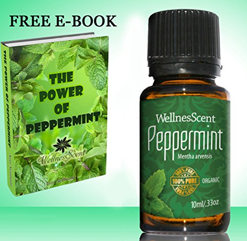 Peppermint Essential Oil 100% Pure Organic & Therapeutic Grade, Used in Aromatherapy -10 Ml Mentha Arvensis