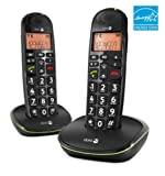 Doro Phone EASY 100W DUO Cordless Phone ( DECT,Hands Free Functionality, Low Radiation, Elderly Friendly Phone )