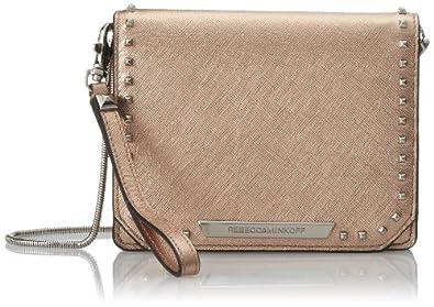 Rebecca Minkoff Shea Tech Cross Body Bag,Rose Gold,One Size