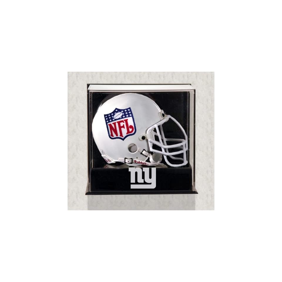 Wall Mounted New York Giants Logo Mini Helmet Display Case