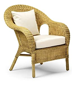 Jasper occasional wicker chair natural home life direct - Amazon bedroom chairs and stools ...