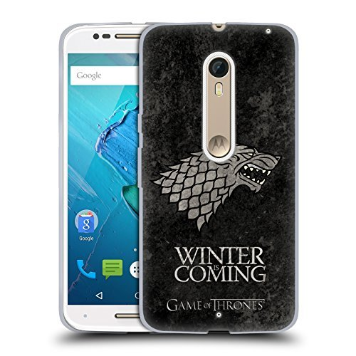 Official HBO Game Of Thrones Stark Dark Distressed Sigils Soft Gel Case for Motorola Moto X Style / Pure by HBO Game Of Thrones