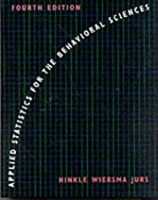 Applied Statistics for the Behavioral Sciences by Dennis E. Hinkle