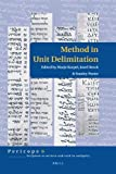 img - for Method in Unit Delimitation (Pericope) book / textbook / text book