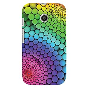 ColourCrust Motorola Moto E Mobile Phone Back Cover With Colourful Pattern Style - Durable Matte Finish Hard Plastic Slim Case