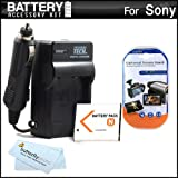 Battery And Charger Kit For Sony Cyber-Shot DSC-QX100, DSC-QX10, QX100/B, DSC-QX10/W, DSC-QX10/B, QX30, DSC-W530, DSC-W620, DSC-W650, DSC-W610 Digital Camera Includes Extended Replacement (1100Mah) NP-BN1 Battery + Ac/Dc Travel Charger + More ~ ButterflyPhoto