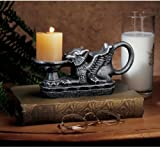 Classic 19th Century Authentic Cast Iron Antique Replica Gryphon Griffin Cand...