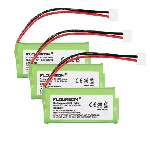 Floureon 3 Packs 2.4V 900Mah Rechargeable Cordless Phone Telephone Batteries For V-Tech Ds6301, Ds6321, Ds6321-3, Ds6321-4, Ds6322, Ds6322-3, Ds6322-4