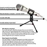 LyxPro HHMU-10 Dynamic USB Microphone for Home Recording, Voice Over & Podcasting, Blocks Background Noise, Includes Desktop Tripod Stand & USB Cable by LyxPro