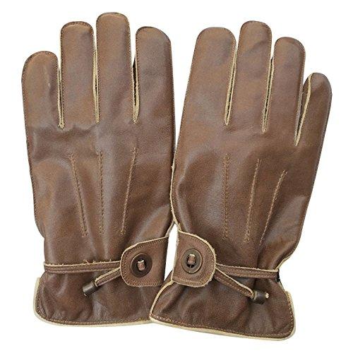 Prime-Herren-Winter-Fashion-fahren-Kuh-Nappa-Leder-Crunch-Kleid-Handschuhe-mit-futter-9087-braun-9087-Crunch-Brown