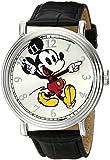 Disney Men's W001868 Mickey Mouse Analog Display Analog Quartz Black Watch