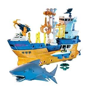Matchbox 鲨鱼船大冒险儿童玩具