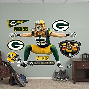 Clay Matthews - Green Bay Packers Sack Celebration Fathead Wall Decal by Fathead