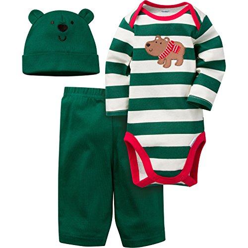 Gerber Boys' ' 3 Piece Bodysuit, Bear, 3-6 Months