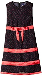 Herberto Girls' Party and Evening Dress (HRBT-DRESS-100-3_Black and red _7 - 8 years)