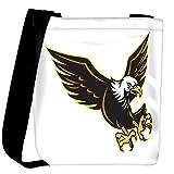 Snoogg american bald eagle flying Womens Carry Around Cross Body Tote Handbag Sling Bags