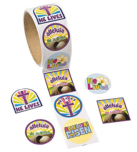 "Fun Express Easter ""He Lives!"" Roll of Stickers (100 Piece)"