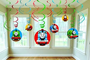 Thomas the Tank Hanging Swirl Value Pack (Multi-colored) Party Accessory by AMSCAN *