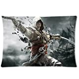 Game Assassin's Creed Custom Rectangle Pillowcase Covers Standard Size 20