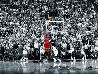 (24x36) Michael Jordan Last Shot 1998 (Chicago Bulls) Poster (Framed Michael Jordan Poster compare prices)
