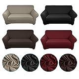 Auralum-Sofaberwurf-sofahussen-2-Sitzer-schwarz-elastisch-90-Polyester-10-Spandex