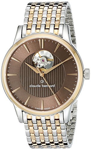 Claude-Bernard-Mens-85017-357RM-BRIR-Automatic-Open-Heart-Analog-Display-Swiss-Automatic-Two-Tone-Watch