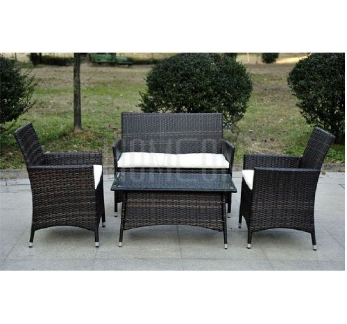 Rattan Garden Furniture Set Rattan sofa In Brown