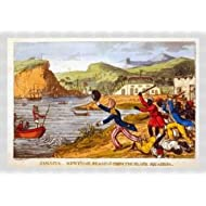 "Tableau avec cadre: Charles Williams, ""'Newcome running from the Black Squadron', plate from 'The Adventures of..."