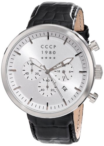 CCCP Men's CP-7007-01 Kashalot Analog Display Japanese Quartz Black Watch