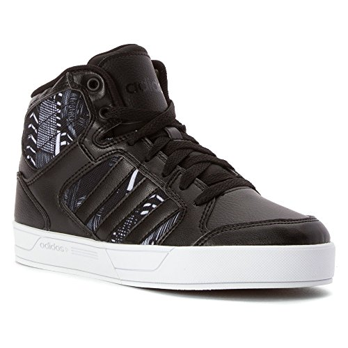 Adidas NEO Women's Bbadidas Performance Raleigh Mid W Basketball Fashion Sneaker,Black/Black/White,8.5 M US