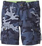 Tommy Hilfiger Little Boys Camo Cargo Short, Blue Stone, 02 Regular