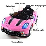 Porsche 918 Style 12v Kids Electric Ride on Car with Remote - Pink - New